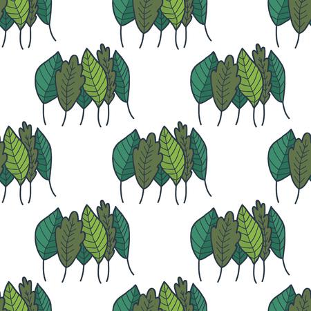 green, greenery, verdure seamless doodle pattern Illustration
