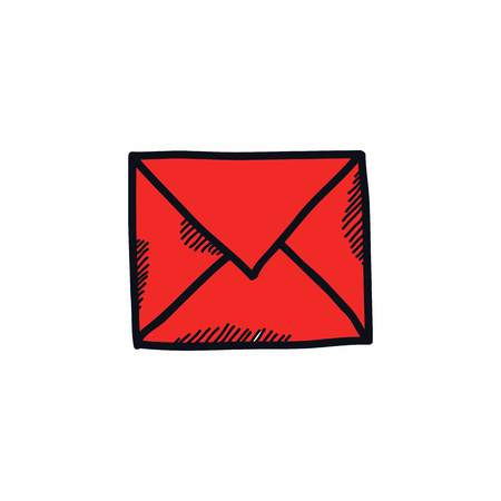envelope doodle line illustration vector icon