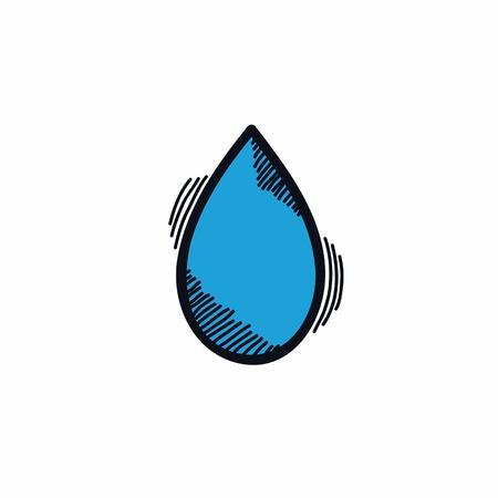 water drops doodle vector icon