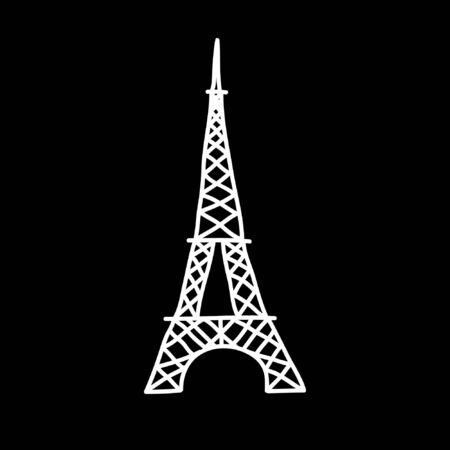 Eiffel Tower doodle icon, vector illustration Ilustrace