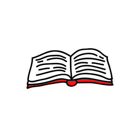 book doodle icon, vector illustration Ilustrace