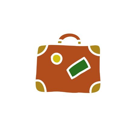 travel case doodle icon, vector illustration Ilustrace