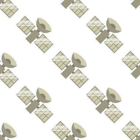 satellite seamless pattern, vector illustration