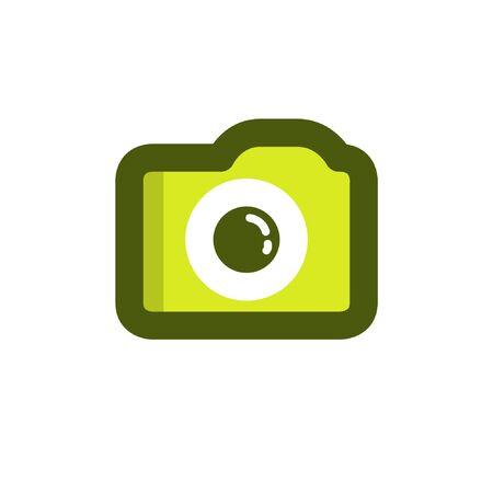 camera flat icon, vector illustration