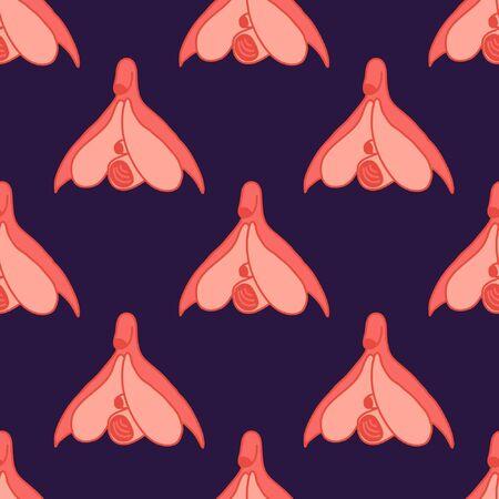 clitoris seamless doodle pattern illustration