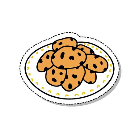 cookies doodle icon, vector illustration