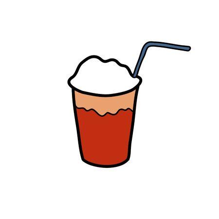 terremoto chilean drink doodle icon, vector color illustration