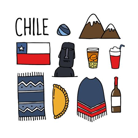 Chile doodle icon, vector illustration