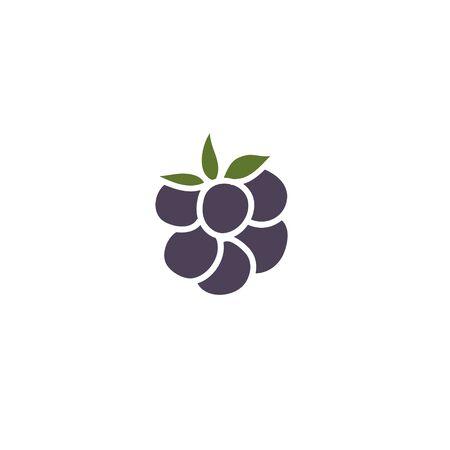 blackberry doodle icon, vector color illustration Ilustração