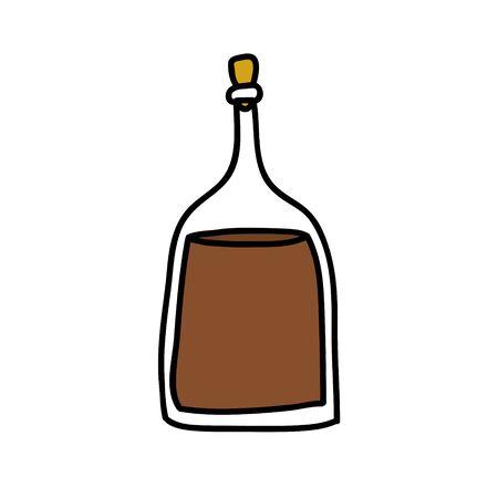 balsamic vinegar doodle icon, vector color illustration