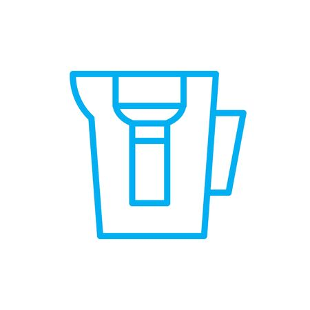 water filter line icon, vector color illustration