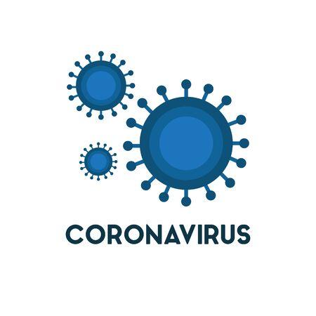 coronavirus flat icon, vector color illustration