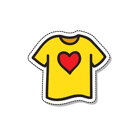 donate clothing doodle icon, vector color illustration 向量圖像