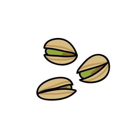 pistachios doodle icon, vector color illustration 일러스트
