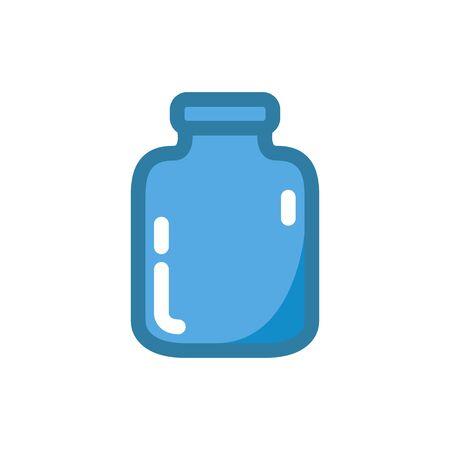 glass jar flat icon, vector color illustration