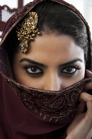 Close-up of a Muslim womans eyes