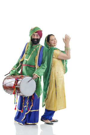 Sikh couple enjoying themselves