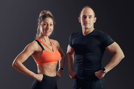 Portrait of couple in the gym