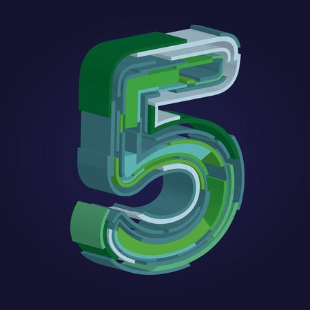 Number five in font / number five design