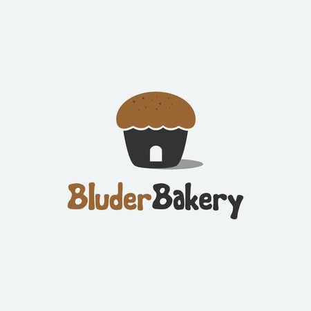 Company logo or bakery business brand Иллюстрация