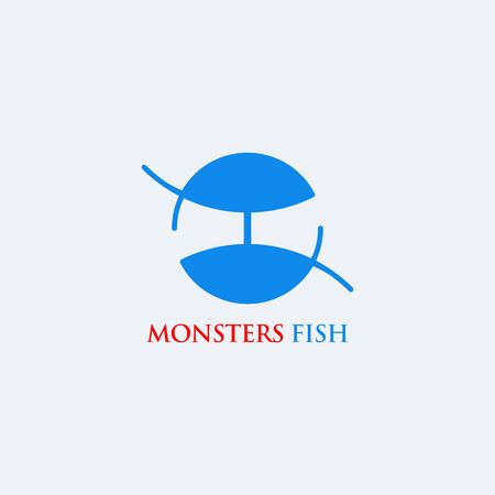 Company logo or fish business brand