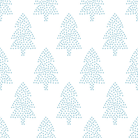 larch: Simple seamless Christmas pattern -  Xmas trees on white background. Happy New Year background. Vector winter holidays design for textile, wallpaper, fabric, wallpaper.