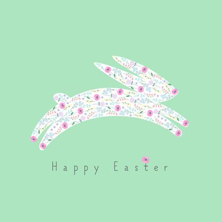 springtime: Happy Easter card Illustration