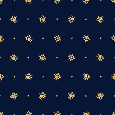 Seamless Christmas pattern on dark blue background.