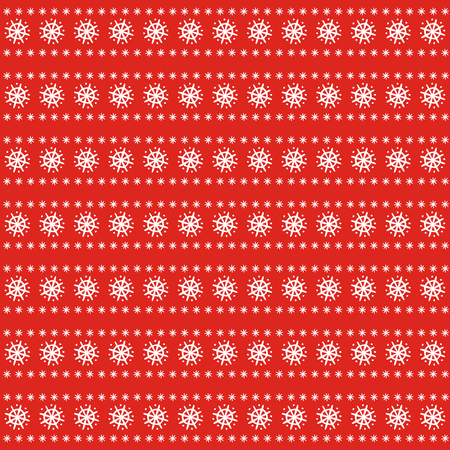 Christmas pattern on red background. Illustration