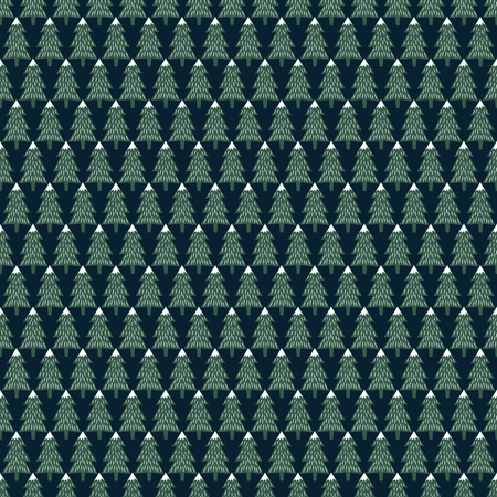 Christmas trees simple seamless pattern.