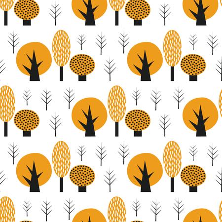 Scandinavian style cute trees seamless pattern. Ilustrace