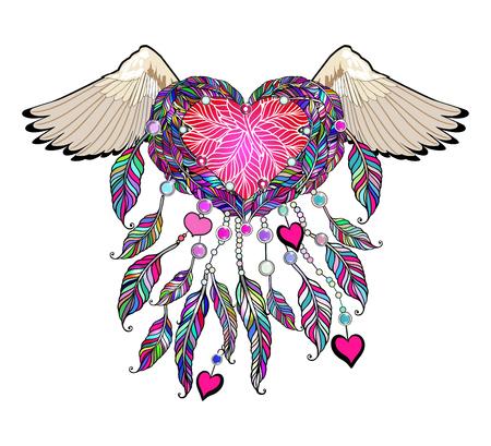 Ethnic apparel illustration - tribal amulet.