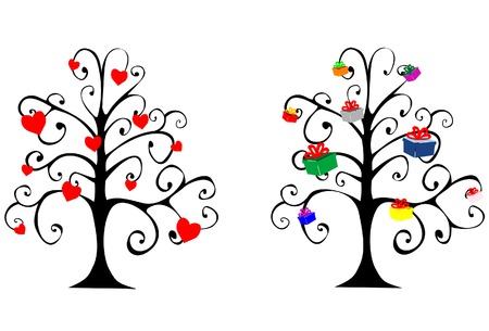 Vector illustration on a theme Holidays