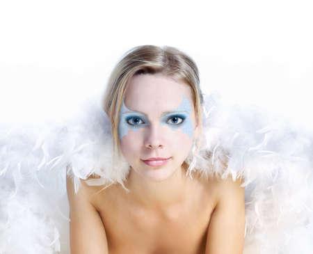 Beautiful woman with  like angel wings