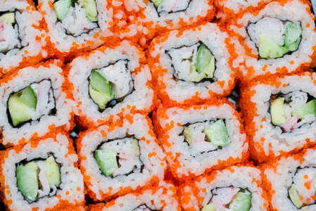 susi: japanese national food susi. studio macro shoot  Stock Photo