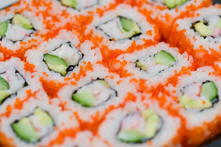 susi: japanese national food susi. studio macro shoot