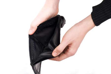Empty wallet. isolated, white background photo