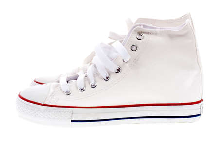 white sport shoes photo