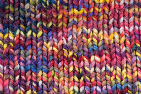 Colored wool. background photo