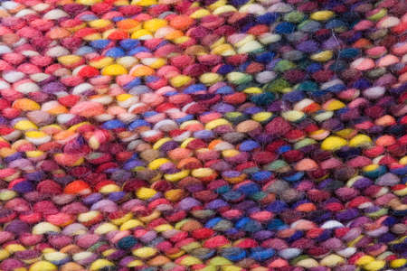 mohair: Colored wool in close up