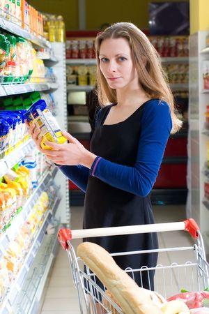 Shopping beautiful woman