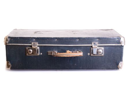 Vintage suitcase. White bacground Stock Photo - 6722731