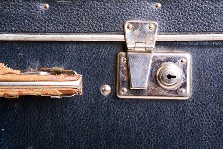 Vintage suitcase. White bacground Stock Photo - 6722743