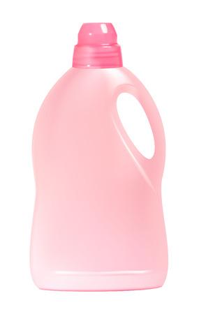 Plastic detergent bottle, isolated on white background.   illustration