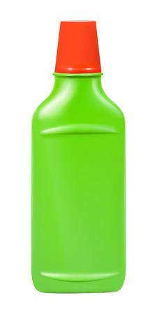 Plastic fles van de detergenten, geïsoleerd op een witte achtergrond.   illustratie