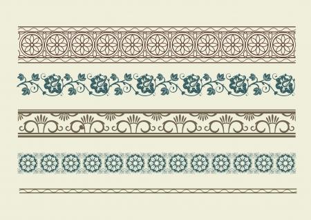 Borders. Set of for design. Retro  Stock Vector - 16110971