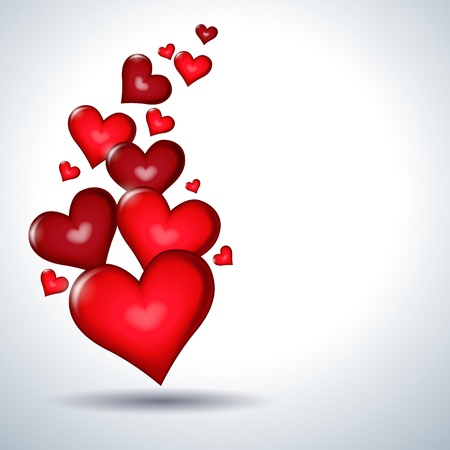 赤いハート  イラスト・ベクター素材