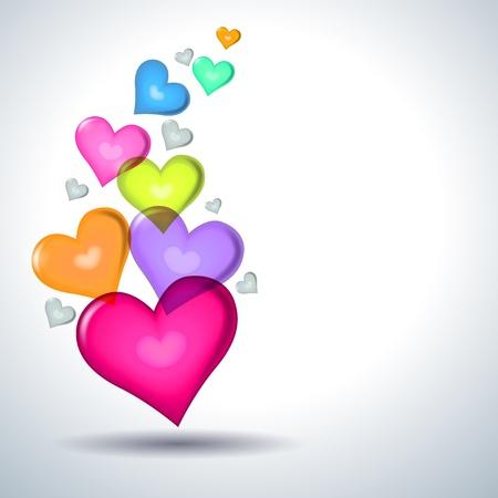 Hart symbolen Valentijn dag. Stock Illustratie