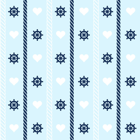 Seamless pattern with nautical elements. Vector illustration Ilustracja