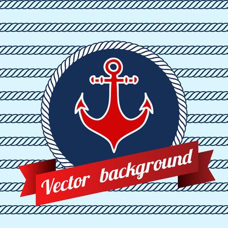 Seamless pattern with nautical elements. Vektorové ilustrace